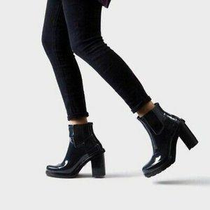 Hunter Original Block Heel Chelsea Rain Boot Gloss